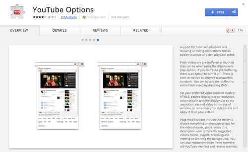 YouTube-Options