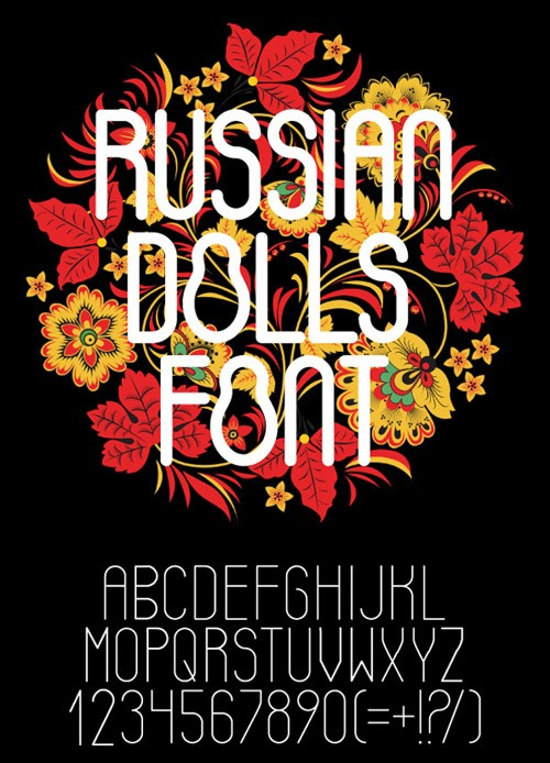 60-russian-dolls-font