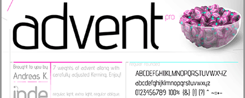 Advent-font