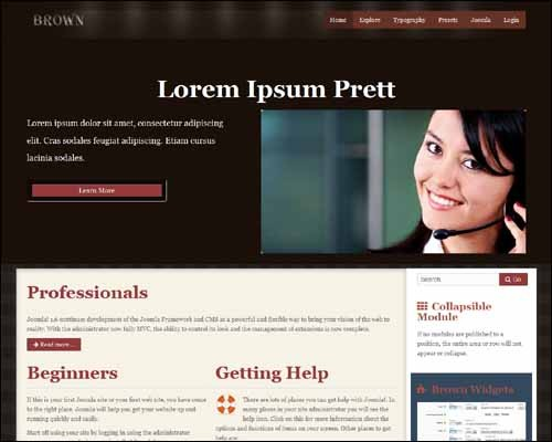 Brown_Free_Joomla_Template