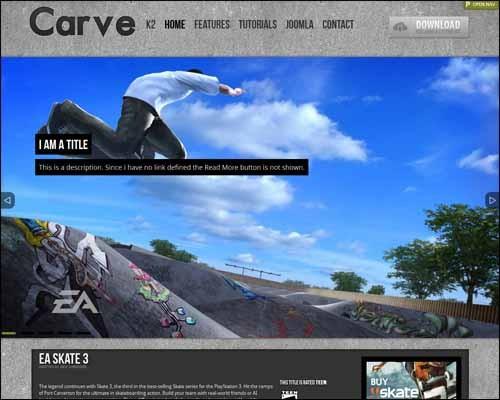Carve_Free_Joomla_Template