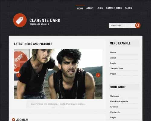 Clarente_Dark_2_Free_Joomla_Template