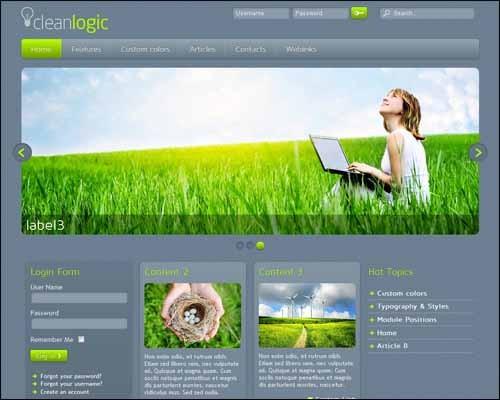 CleanLogic-Free-Responsive-Joomla-Template