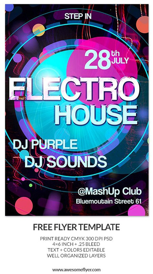 Download-Electro-House-Free-PSD-Flyer-Template