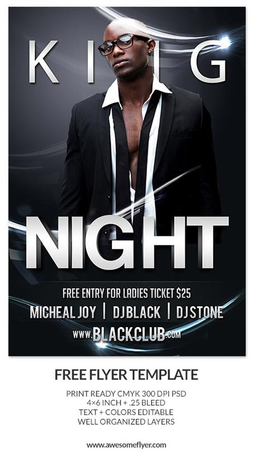 Download-King-Night-Free-PSD-Flyer-Template