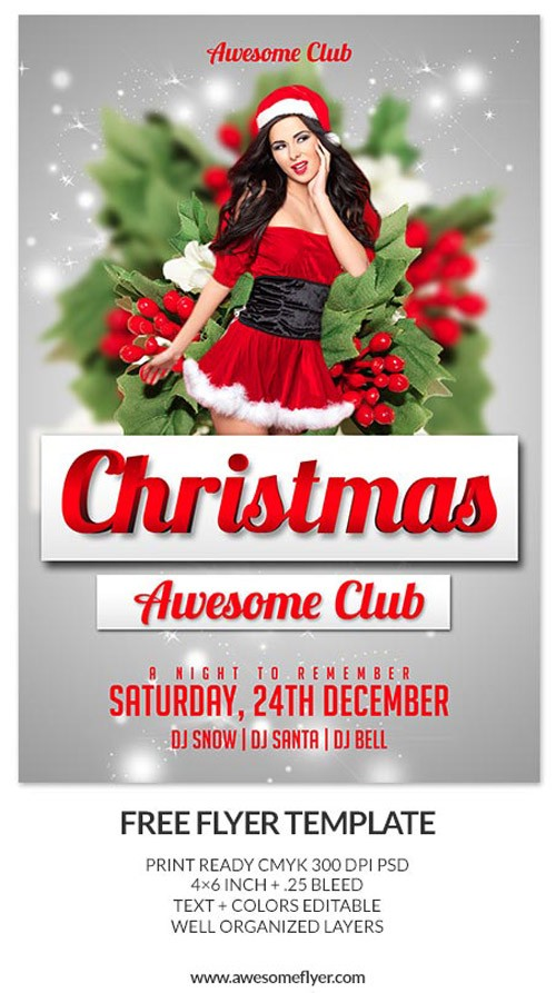 Download-Merry-Christmas-Free-PSD-Flyer-Template