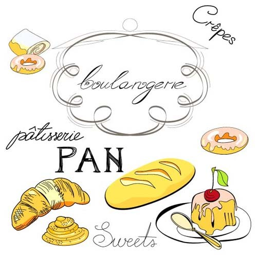 Hand drawn Illustrations Food elements vector 01