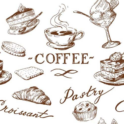 Hand drawn Illustrations Food elements vector 04