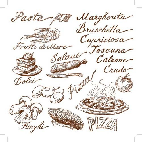 Hand drawn Illustrations Food elements vector 05