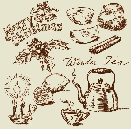 Hand drawn vintage food Illustrations vector 05
