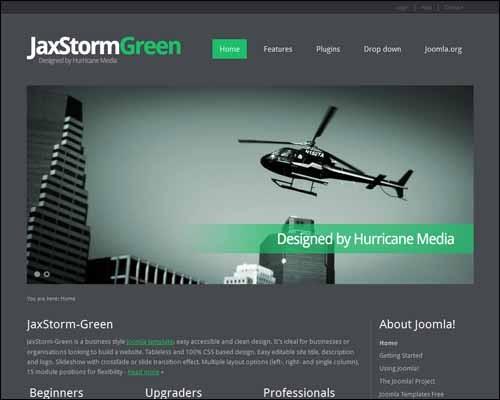 JaxStorm_Green_Free_Joomla_Template