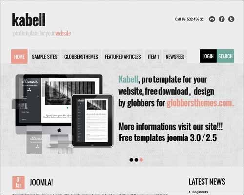 Kabell_Free_Joomla_Template