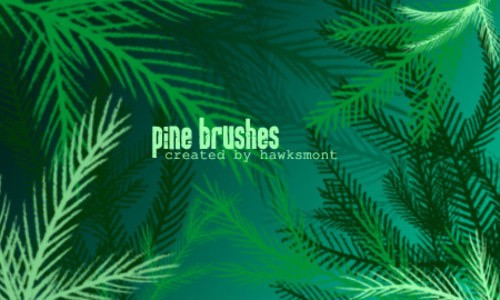 Pine_Brushes_MEGA_PACK_by_hawksmont-christmas