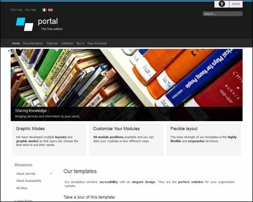 Portal-Free-Joomla-template