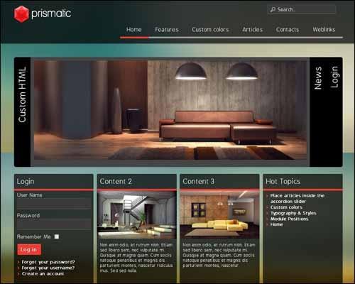 Prismatic_Free_Joomla_Template