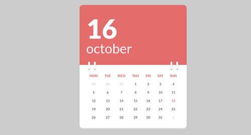 calendar-codepen