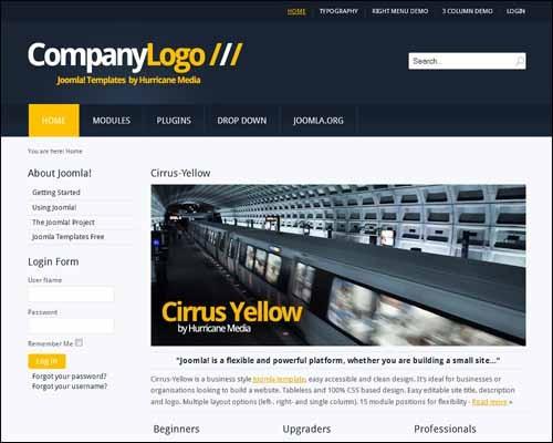 cirrus-yellow-free-joomla-template
