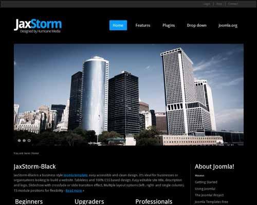 jaxstorm-black-free-joomla-template