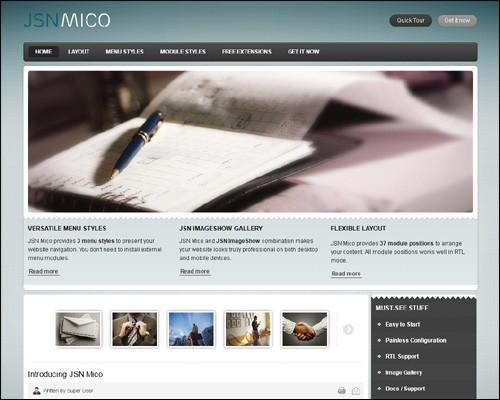 jsn-mico-free-business-green-joomla-template