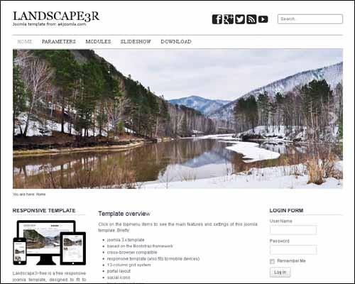 landscape3r-free-joomla-template