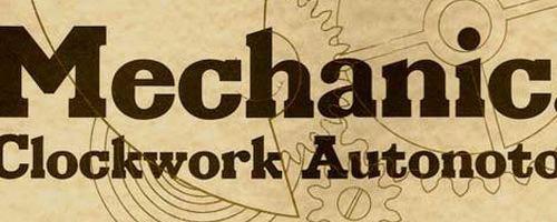 mechanical-font