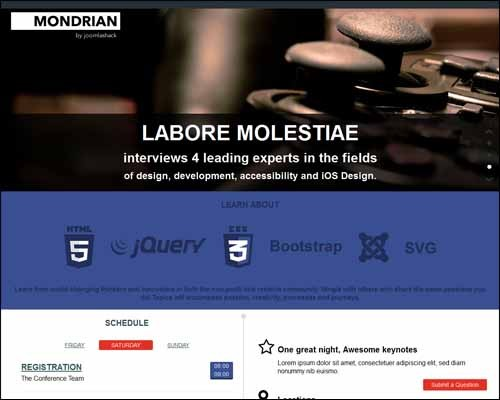 mondrian-free-joomla-template