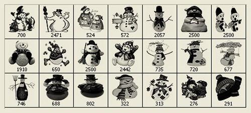snowman-brushes-christmas