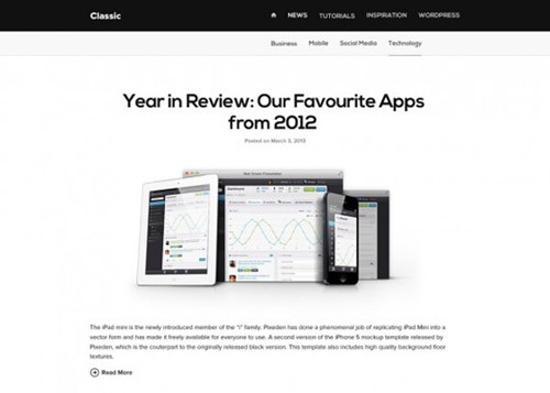 classic-free-blog-template