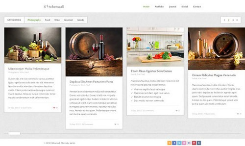 kitchenwall-free-psd-website-template