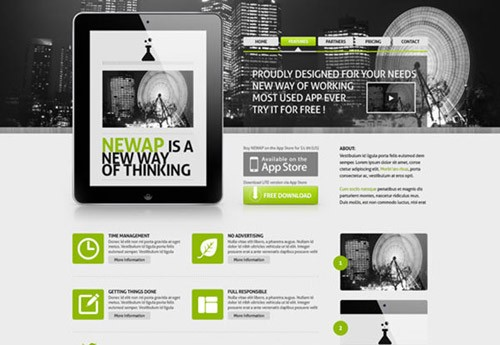 newap-free-psd-website-template