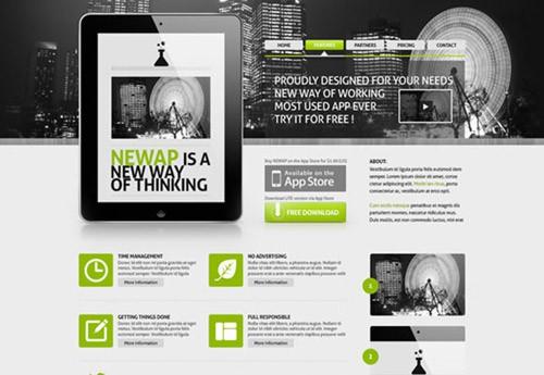 newap-free-psd-website-template