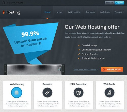 web-hosting-free-psd-website-template