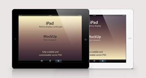 002-ipad-retina-display-landscape-black-white-mockup-psd