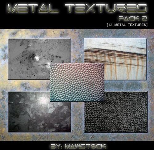 12_METAL_TEXTURES___PACK_2_by_mawstock