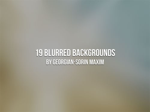BlurredBackgrounds