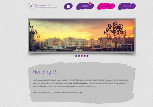 HTML-Paint-landing-page