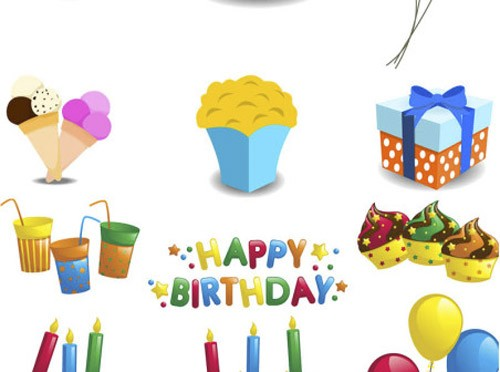 Cartoon-Happy-Birthday-decorations-vector-452x336