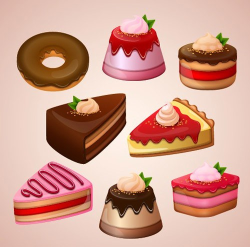 Cute-cake-design-vector-graphics