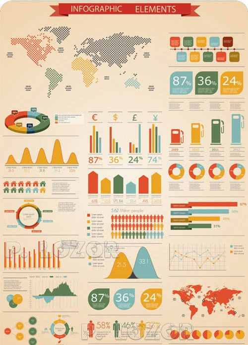 Elements-of-Infographics-Vector