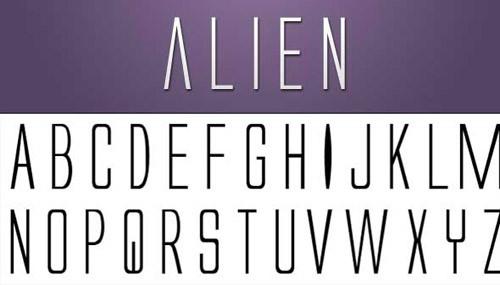 alien-free-font