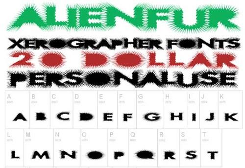 alien-fur-font