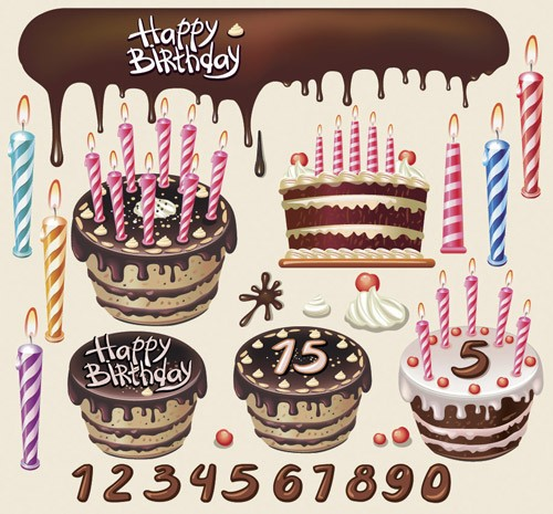 free-vector-beautiful-birthday-cake-theme-vector_004744_Chocolate2