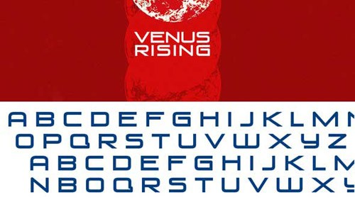 free-venus-rising-font