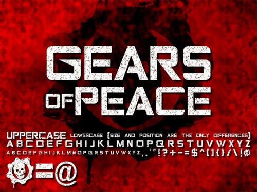 gears-peace-font