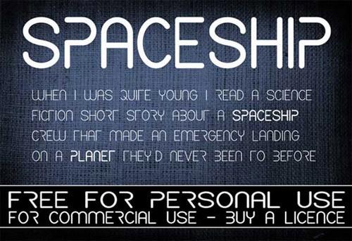 spaceship-free-font