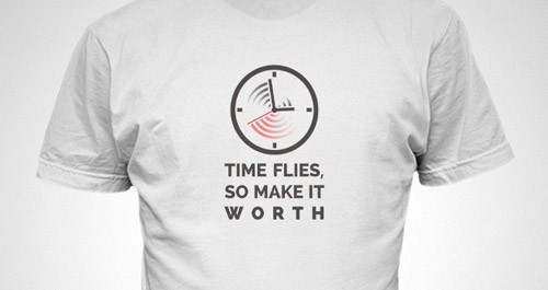 time-flies-logo-t-shirt