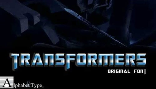transformers-free-font