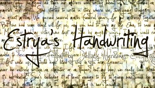 Estryas-Handwriting