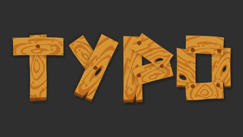 Wood_Pattern_Cartoon_Text_Effect_in_Illustrator_Preview