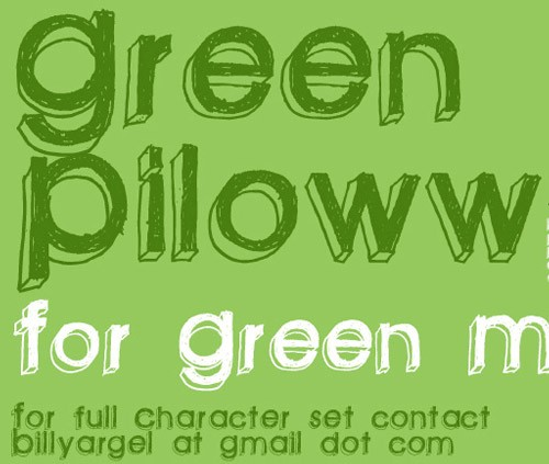 green-pillow
